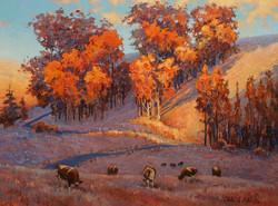 Clark Mitchell- Sunset Grazing II (oil)