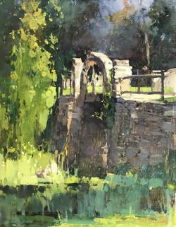 Zufar Bikbov - Stones of Bridge (oil)