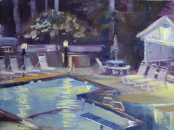 Ed Cahill - Subdivision Pool at Night