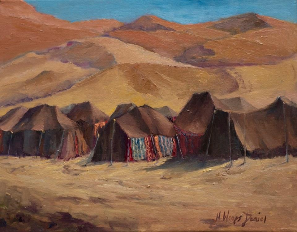 Nancy Woods Daniel - Tent Camp, Sahara Desert, Morocco
