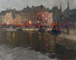 Oksana Johnson - Evening in a Harbor