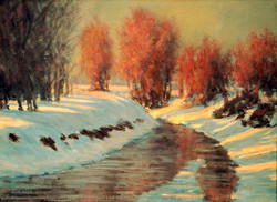Mark Saenger - The Canal in Winter