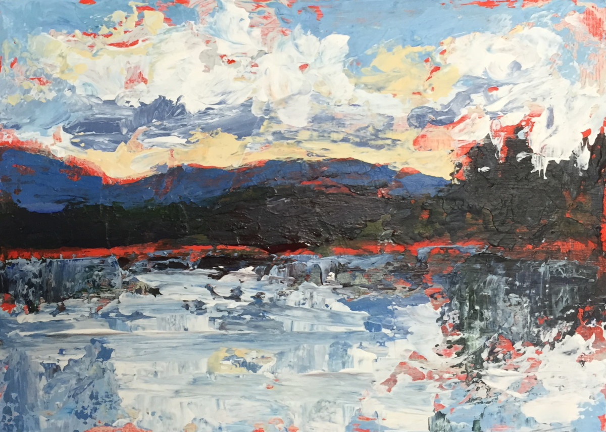 Holly Friesen - Lake & Cloud Study