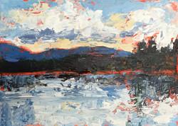 Holly Friesen - Lake & Cloud Study