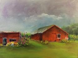 Donna Pierce-Clark - Storm Overhead, Little Maders Farm