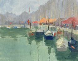 Oksana Johnson - Morning in a Harbor