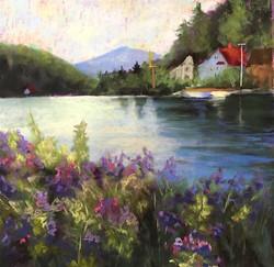 Susan Whiteman - Summer Evening on Lake Flower