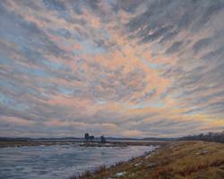 Jeanne Pierce - Winter Evening Plum Island