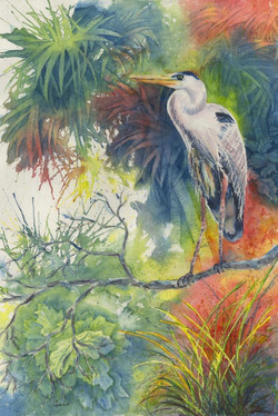 Barb Capeletti - Watchful Blue Heron