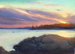 Olena Babak - Sunset on Lane's Island