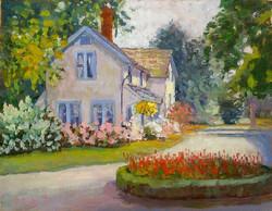 Ramona Dooley - Cottage with Blue Windows