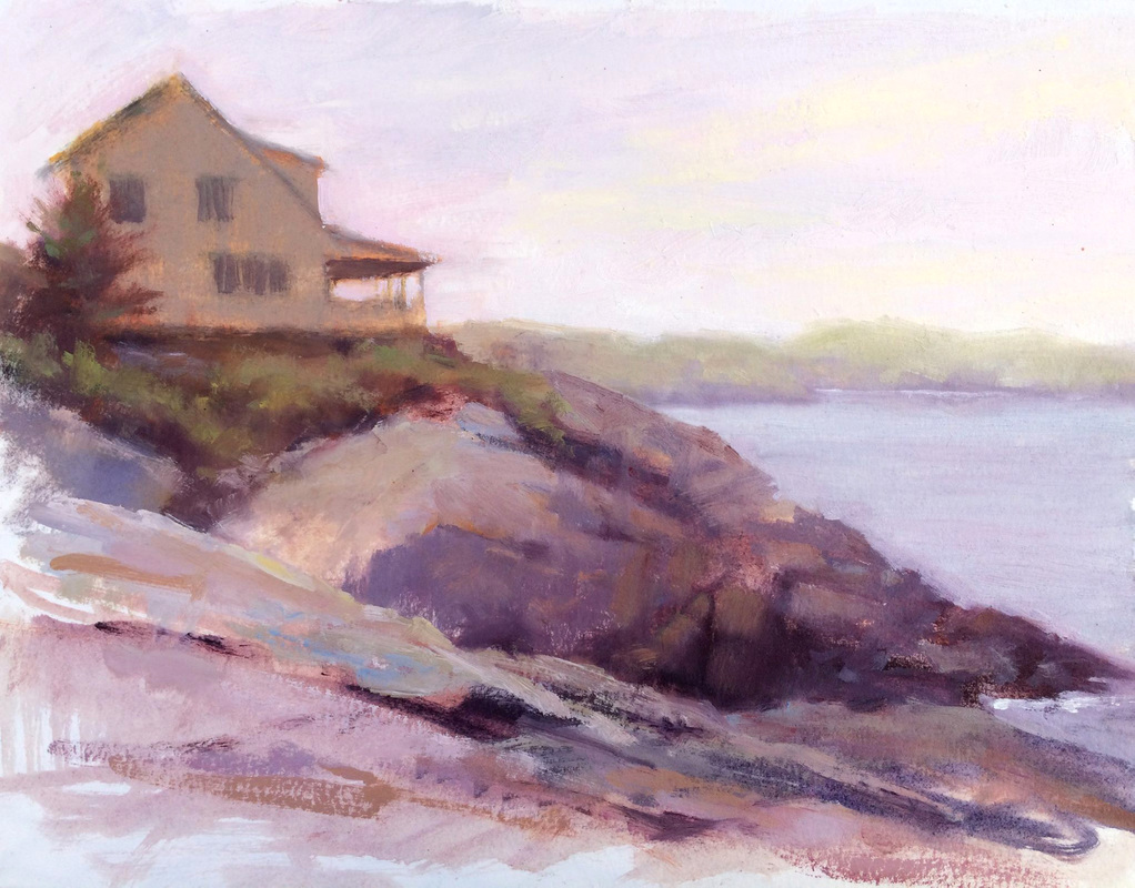 Jeanne Tangney - Deadman's Cove (plein air)