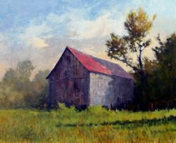 Ralph Parker - Ohio Barn (gouache)