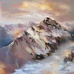 Christa Friedl - Above the Fog (oil)
