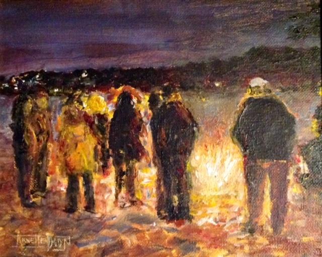 Annette D McGowan - Carmel Beach Bonfire