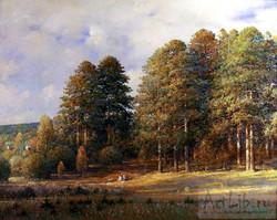 Alexander Shevelev - Large Pine Trees. Evening