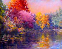 Donna H. Branson - Sunset Over White Marsh Lake