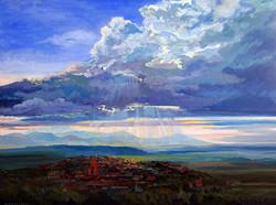 Nancy Paris Pruden - Storm Over San Miguel