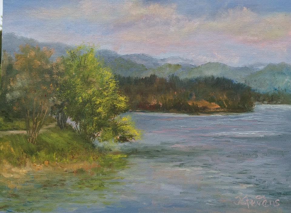 Julia Norton Stevens - Lake Chatuge Afternoon