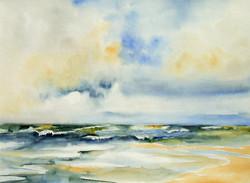 Dolores Saul - Waves (watercolor)