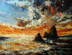 Roman Rocco Burgan - Acrylic Sunset