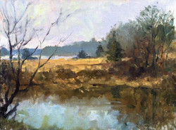 Blaney Harris - Late Fall, Haley Farm (plein air)