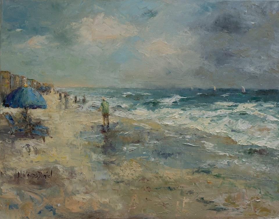 Nancy Woods Daniel - A Walk on the Beach