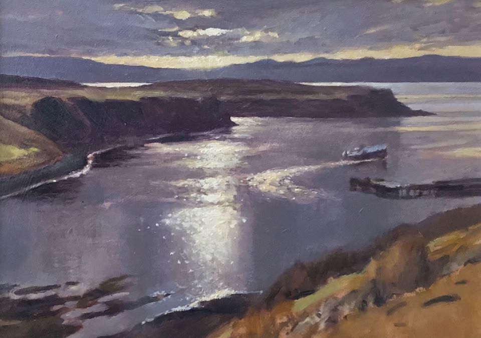 David Deamer - Uig Bay, Isle of Skye (plein air oil)