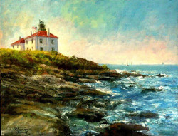 Blaney Harris - Jamestown Light (plein air)