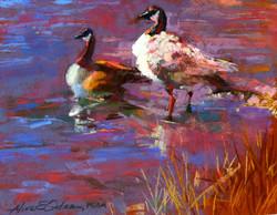Aline Ordman - Geese Pastel