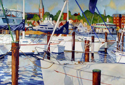 Mick Williams - A View from the Pier (watercolor)