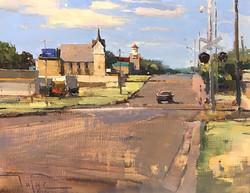 Zufar Bikbov - Across the Railroads (plein air oil)