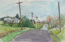 Jane Ramsey - Along Center School Road, Bedminster Township, Bucks County, PA