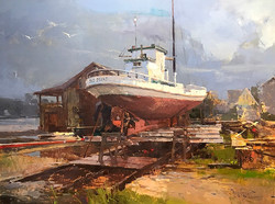 Zufar Bikbov - Storm Passed (plein air oil)