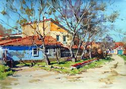 Igor Pozdeev - Crimean Street (tempera)