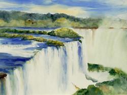 Dolores Saul - Berauschender Iguacu (watercolor)
