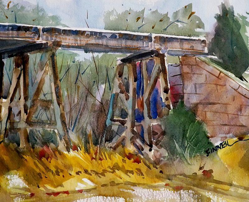 David Finnell - Railroad Bridge, Strasburg