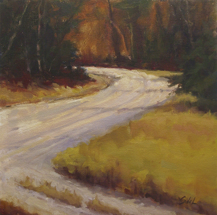 Suzanne deLesseps - Back Road Bend (oil)