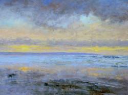 Andrew Barrowman - Winter Sunset (oil)
