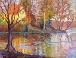Ramona Dooley - Yellow House on the Lake