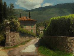 Joseph McGurl - Study of a Tuscan Villa (plein air)