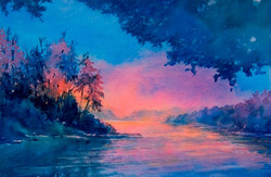 Virgil Carter - Twilight Time, No. 4 (watercolor)