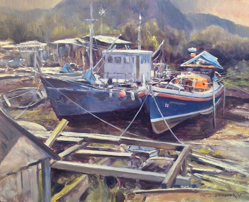 David Deamer - Boatyard at Dornie