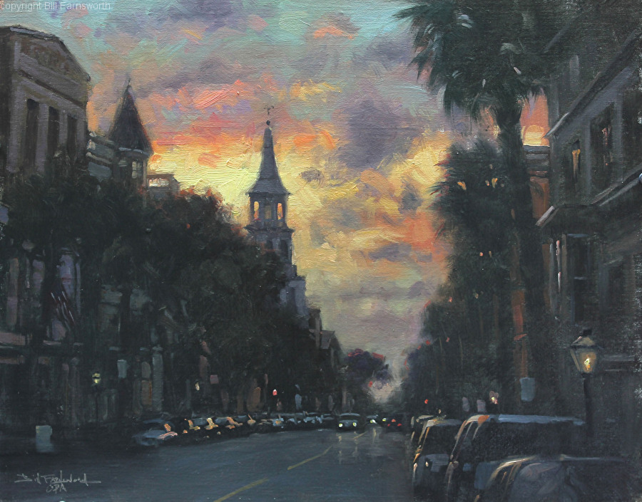 Bill Farnsworth - Sunset on Broad