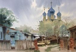Sergei Kurbatov - Courtyard in Suzdal