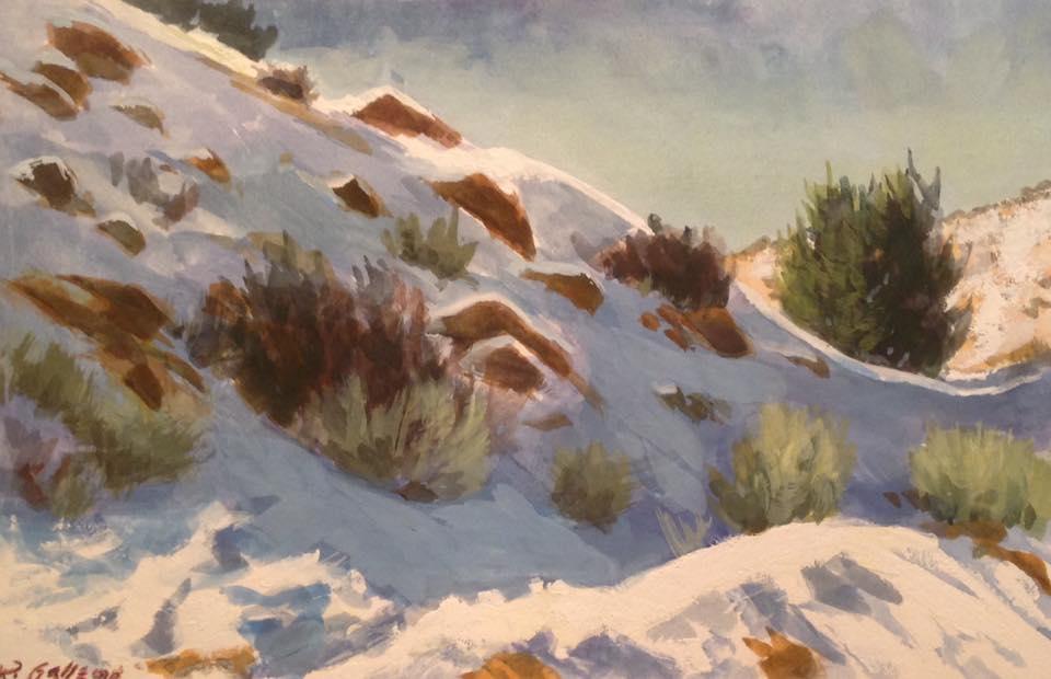 Richard E. Gallego - High Desert Powder (gouache)