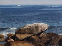Joseph McGurl - Study of a Rock (plein air)