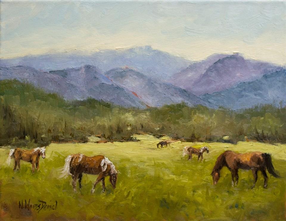 Nancy Woods Daniel - The Horses of Cade's Cove