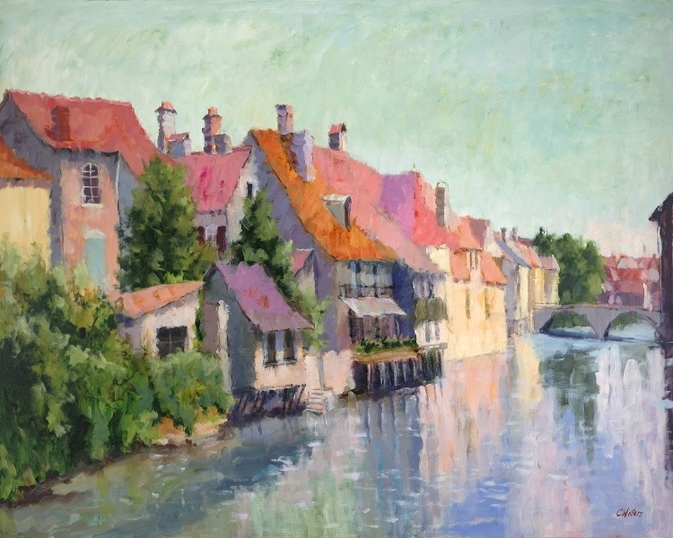 Connie Winters - Bright Morning in Ornans (giclee print)