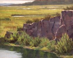 Richard E. Gallego - Back Bay at Low Tide (plein air)